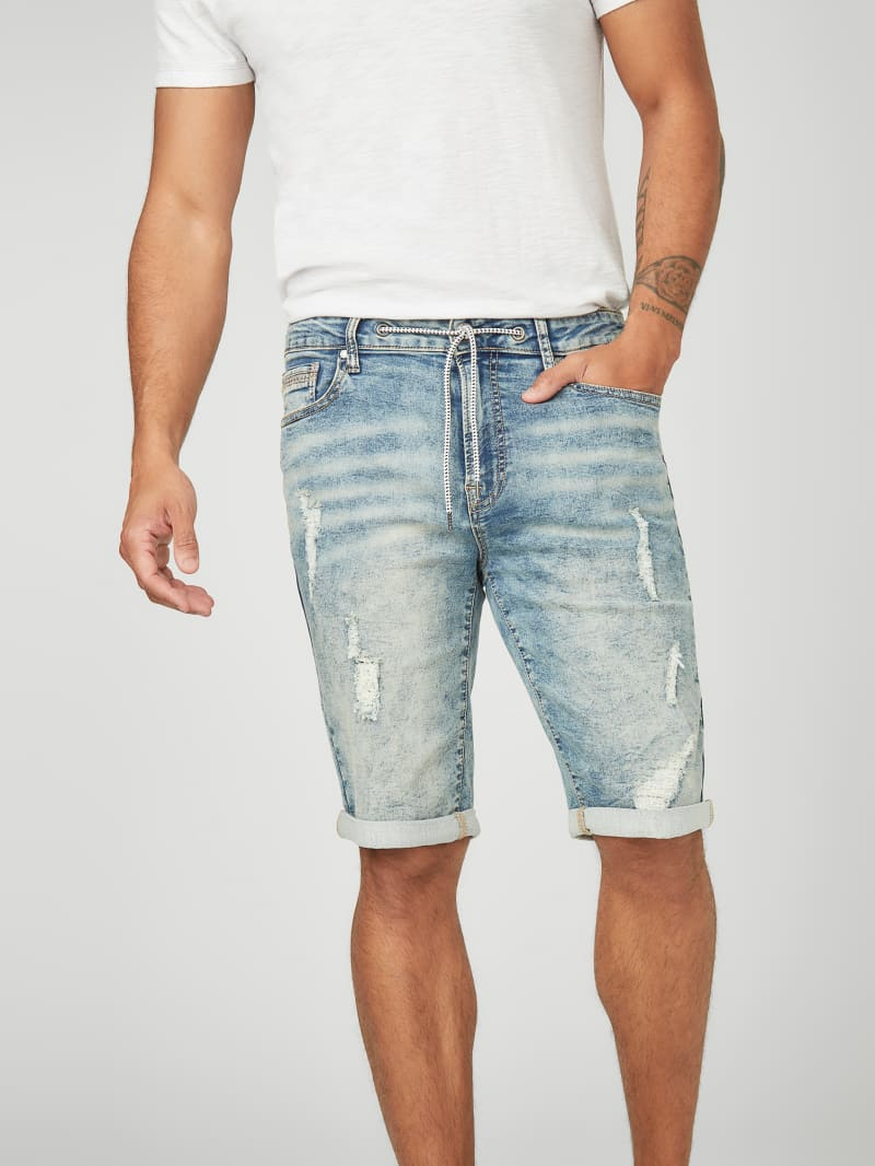 Lannister Drawstring Denim Shorts