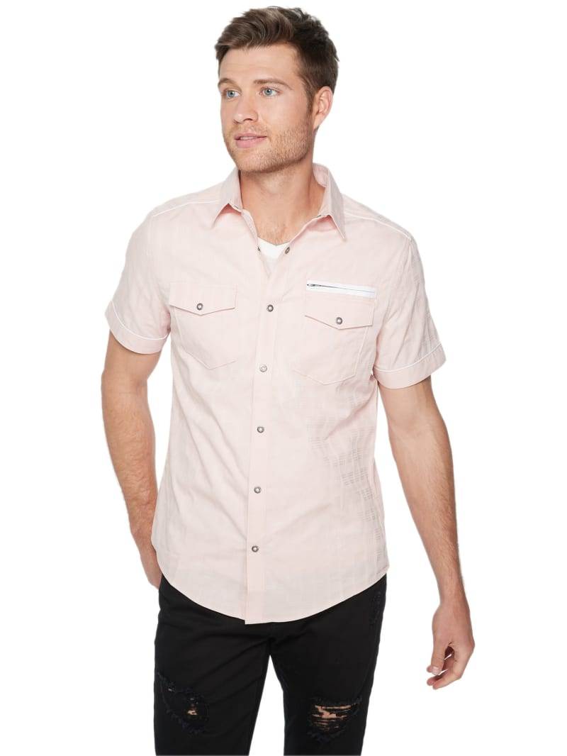 Angelo Dobby Snap-Button Shirt