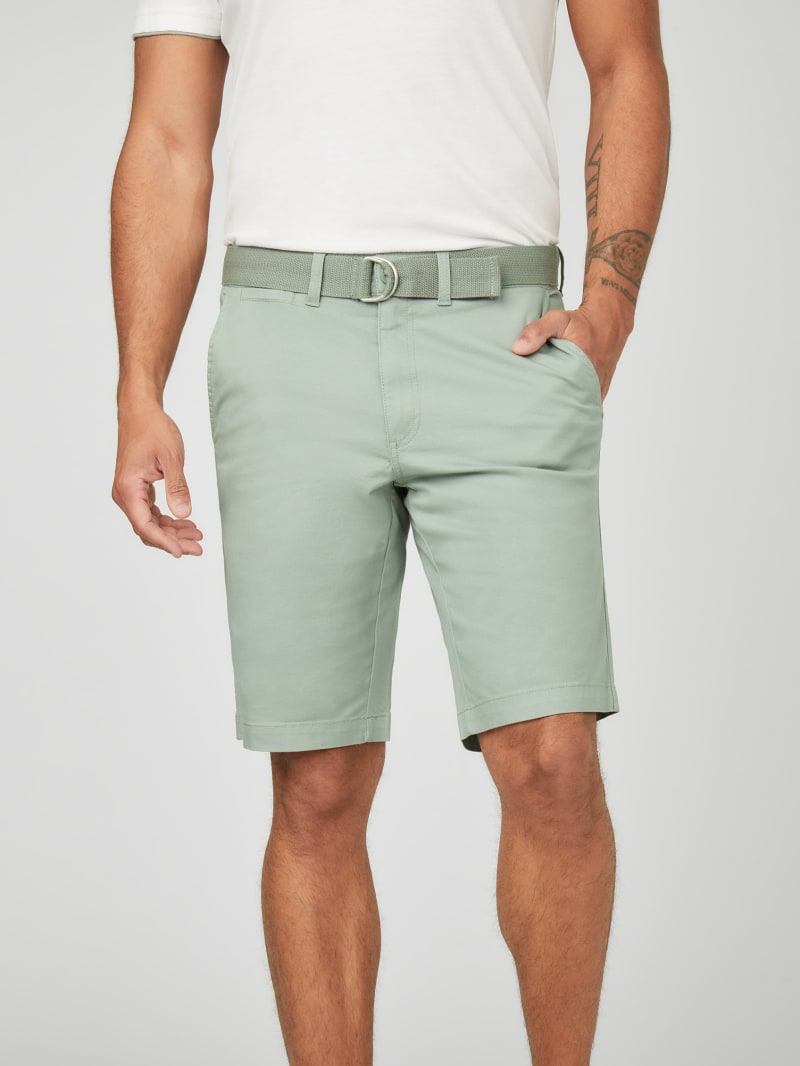 Abel Stretch Flat-Front Shorts