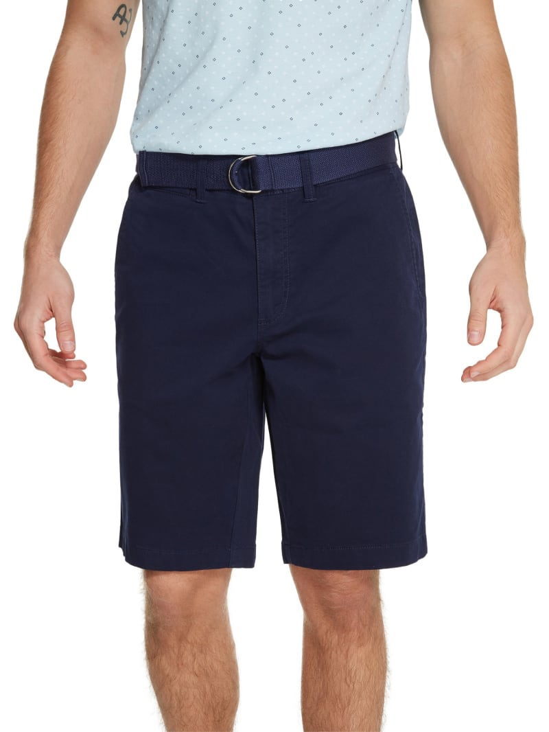 Abel Stretch Flat-Front Shorts