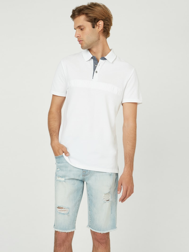 Griffin Embossed Logo Polo