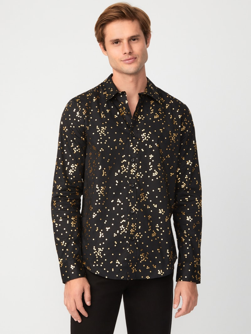 Zal Metallic Printed Shirt