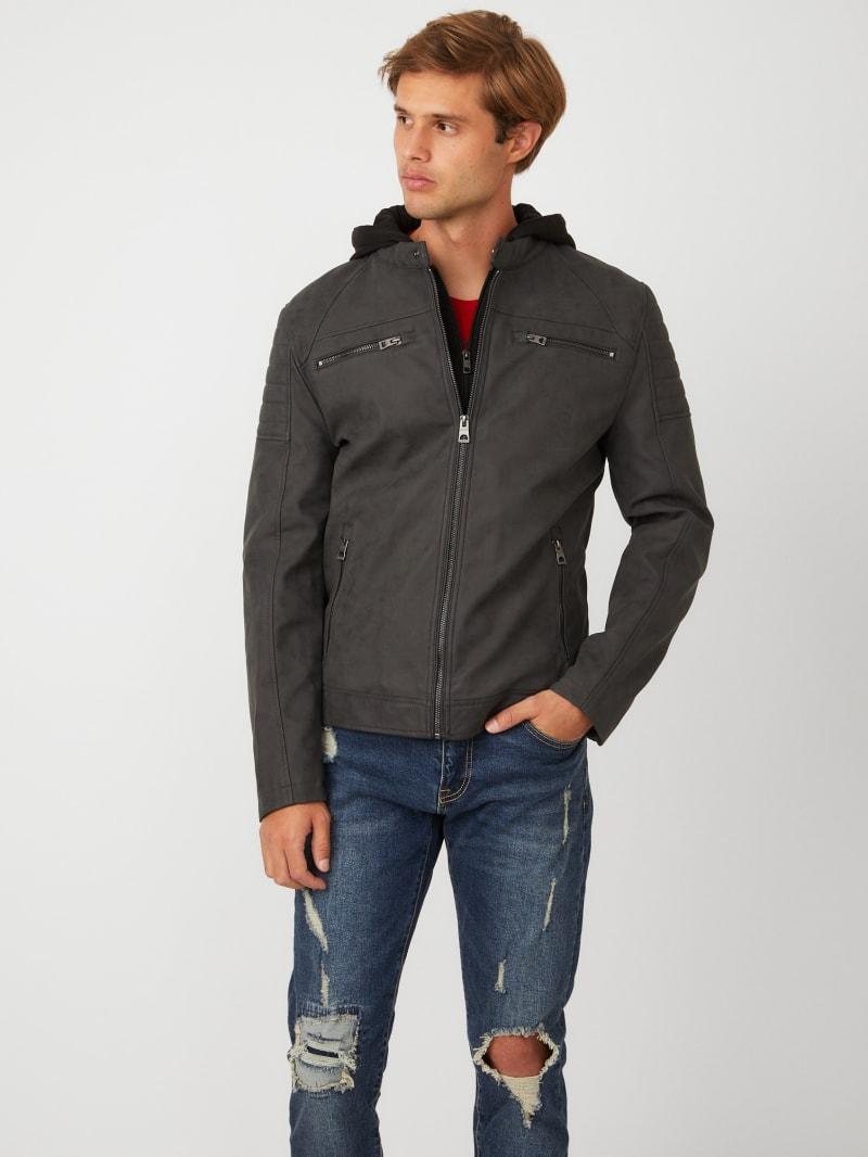 Clayton Faux-Suede Moto Jacket