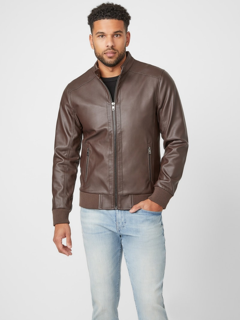 Barry Faux-Leather Moto Jacket