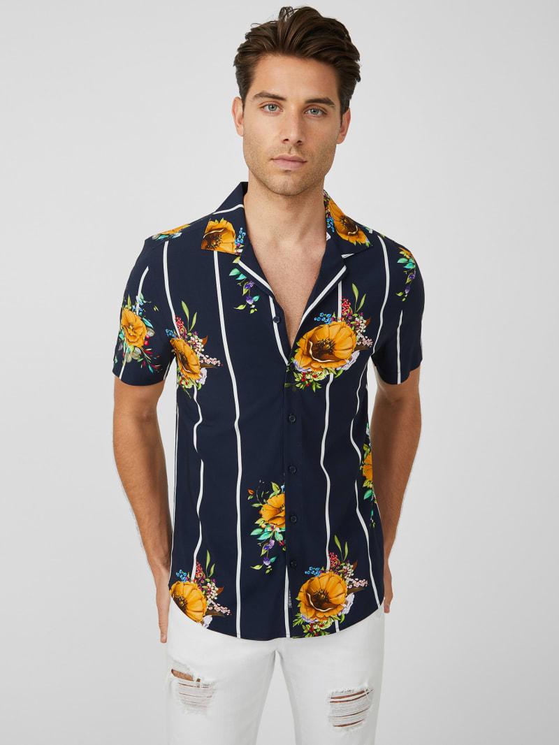 Zino Floral Stripe Shirt