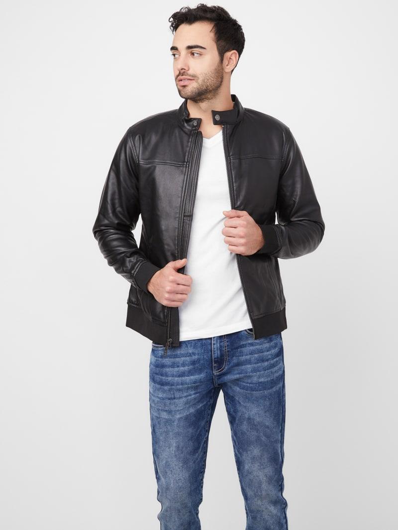 Kazra Faux-Leather Moto Jacket