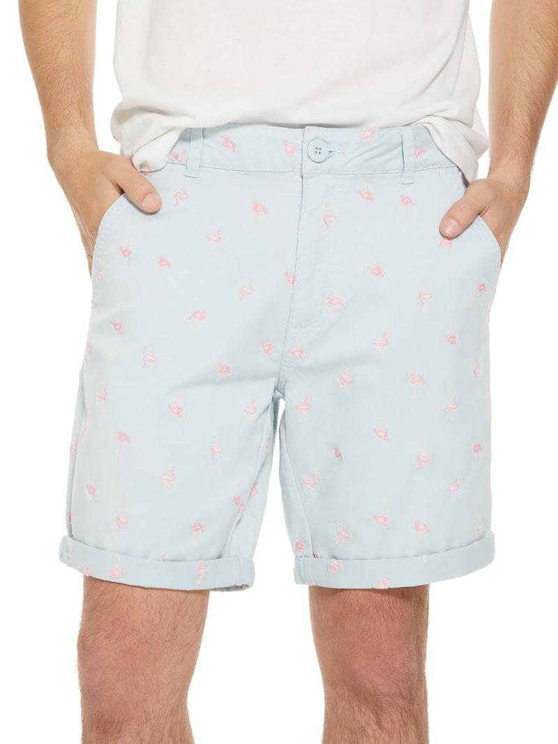 Happ Flamingo Flat-Front Shorts