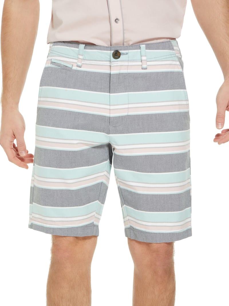 Rowan Striped Flat-Front Shorts