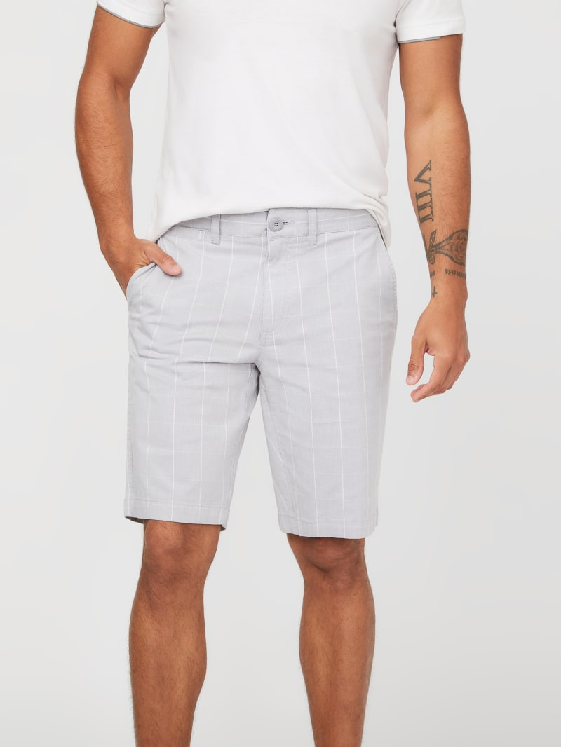 Abel Checked Flat-Front Shorts