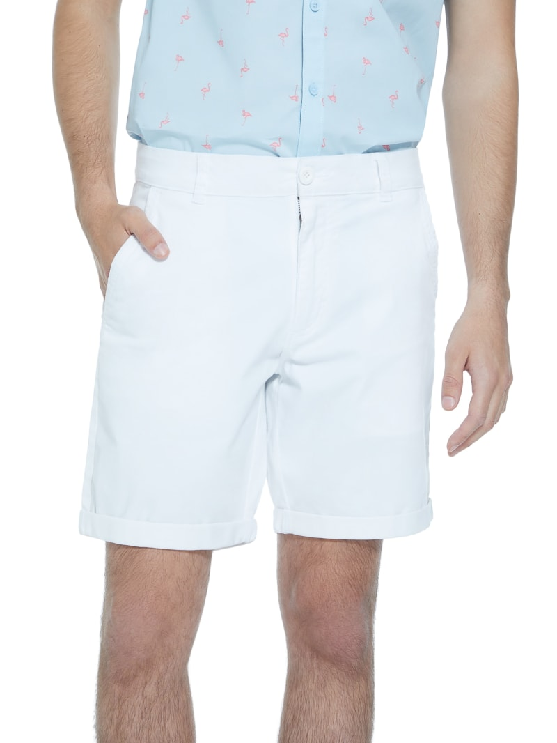 Happ Stretch Flat-Front Shorts