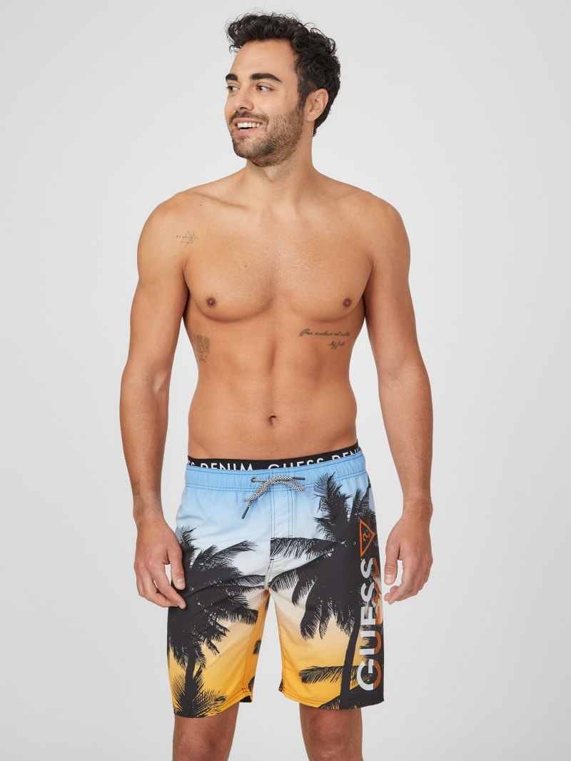 Maximus Logo Long Swim Trunks
