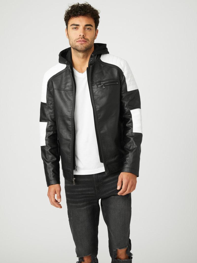 Daniel Color-Block Biker Jacket
