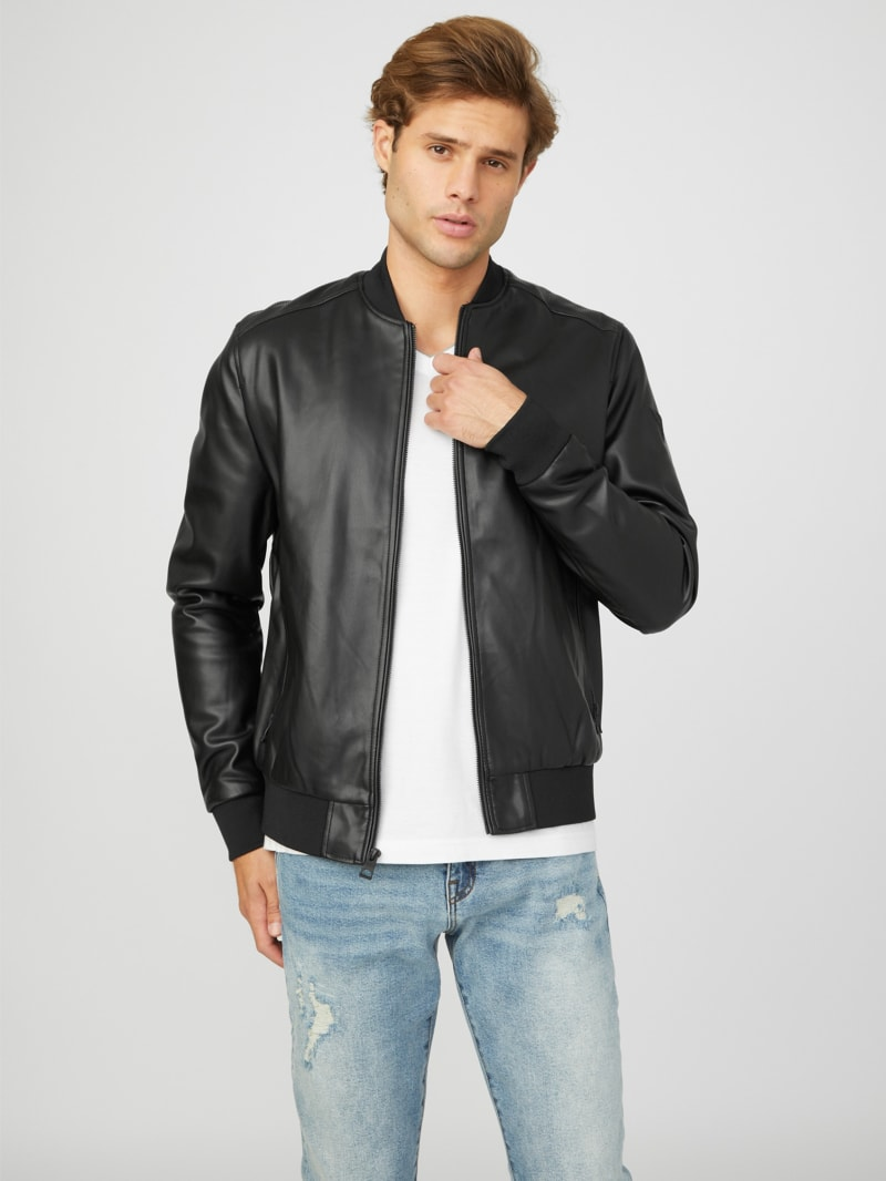 Curt Faux-Leather Bomber