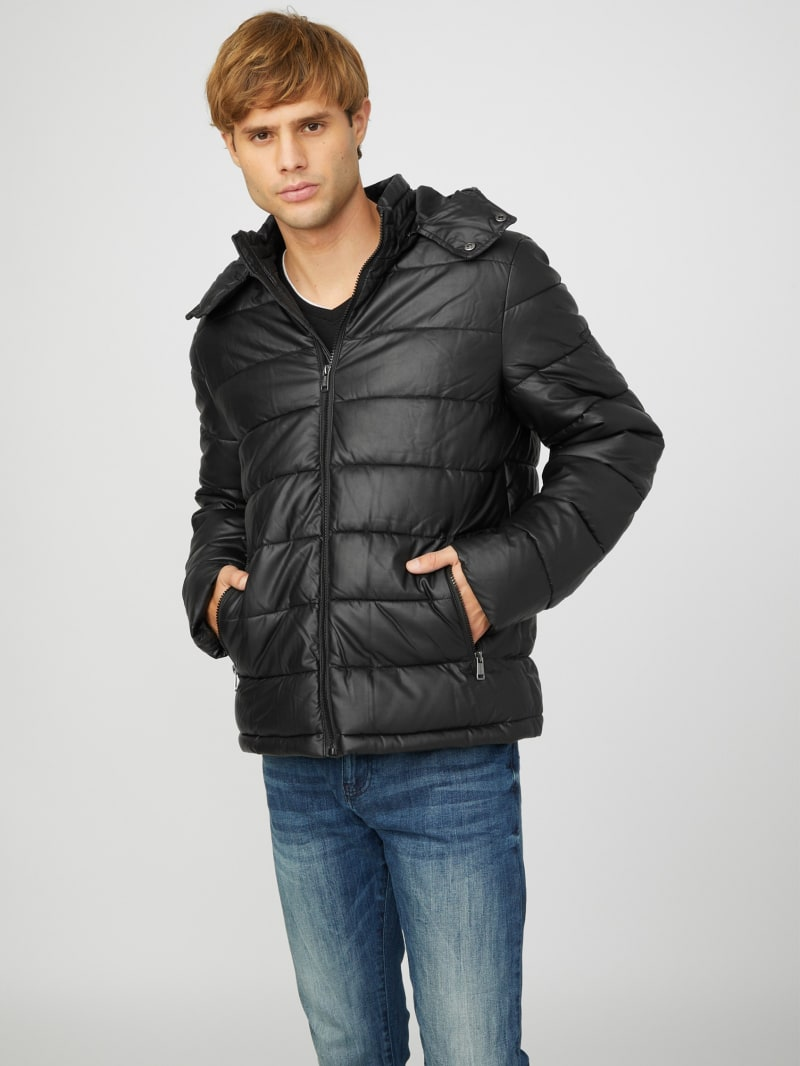 Yur Faux-Leather Puffer Jacket