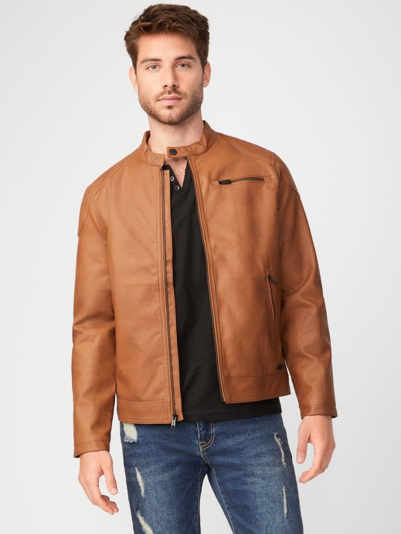 Jackson Faux-Leather Moto Jacket