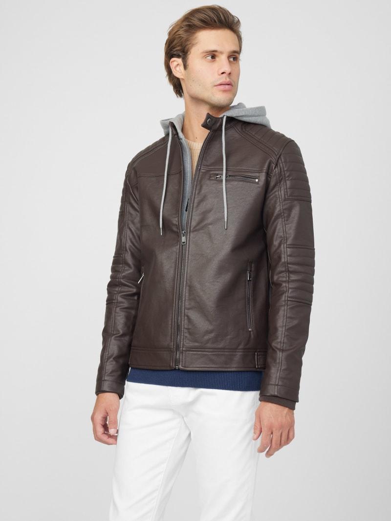 Daniel Faux-Leather Biker Jacket