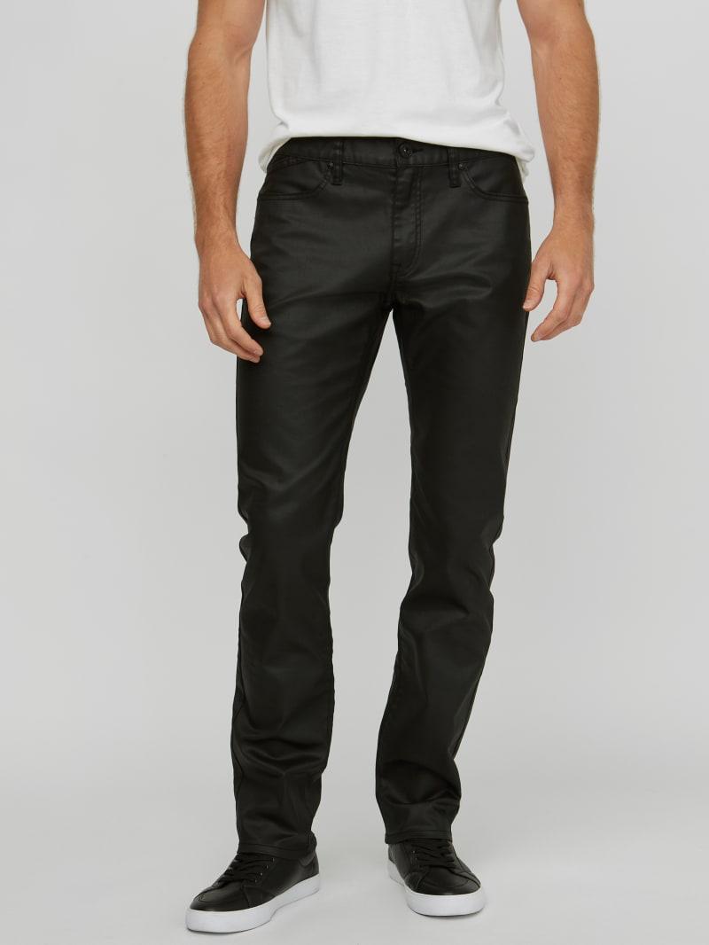 Harlem Ultra-Slim Coated Zip Jeans