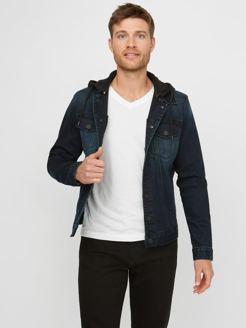 Vertix Hooded Super Stretch Denim Jacket