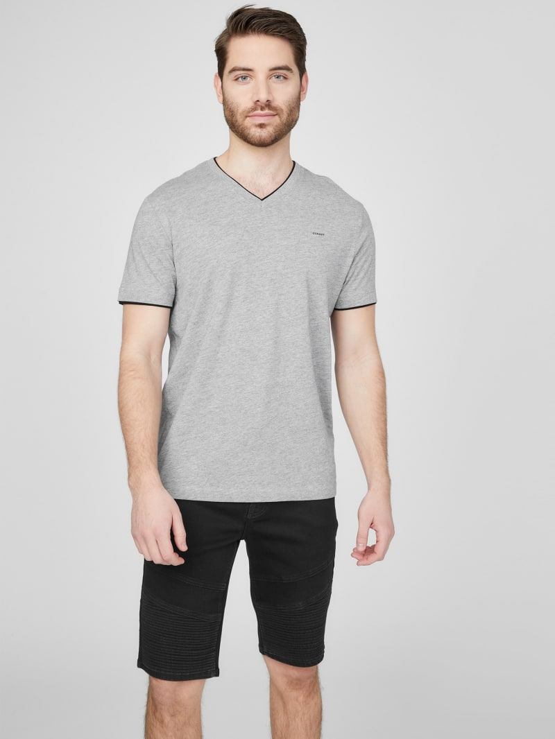 Armin Heathered V-Neck Tee