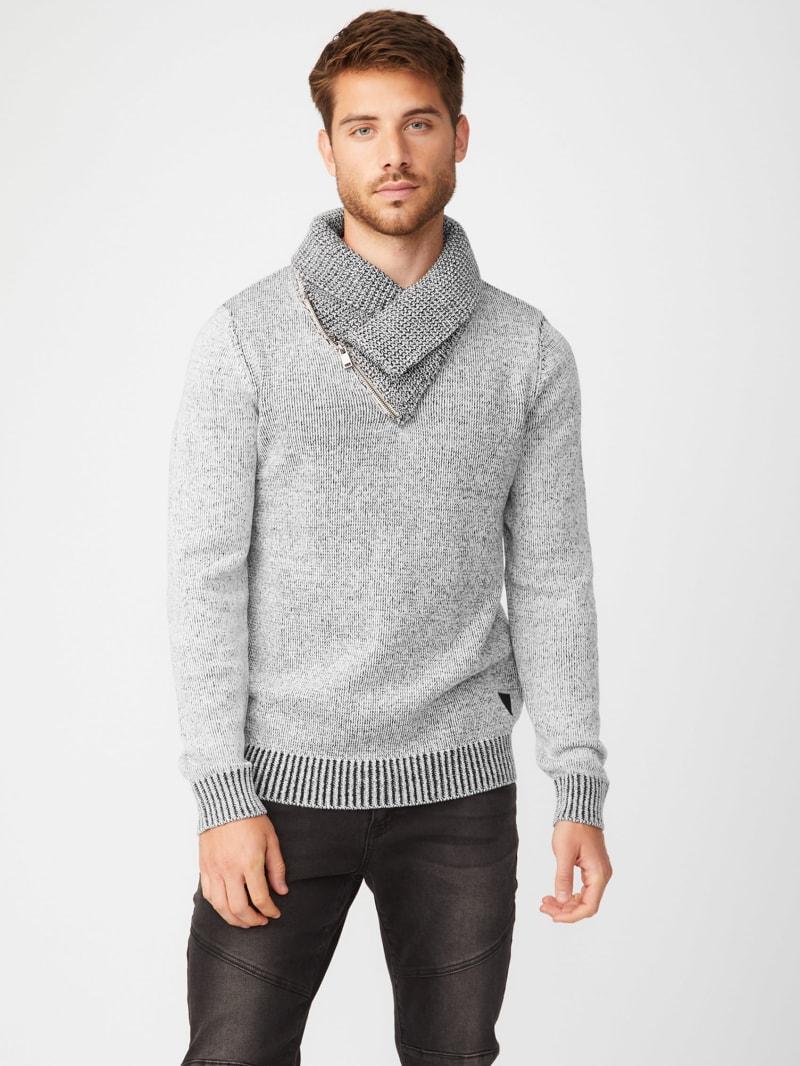 Clay Shawl Zip Sweater