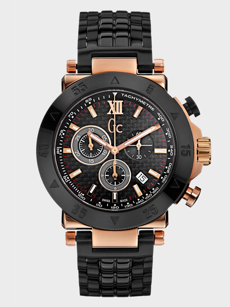 Black and Rose Gold-Tone Watch