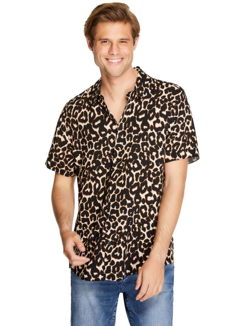 Lewis Leopard Short-Sleeve Shirt