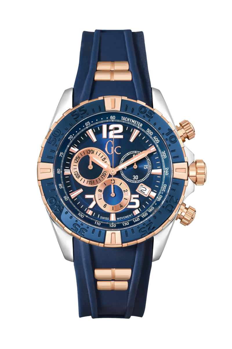 Rose Gold-Tone and Blue Chic Sport Watch