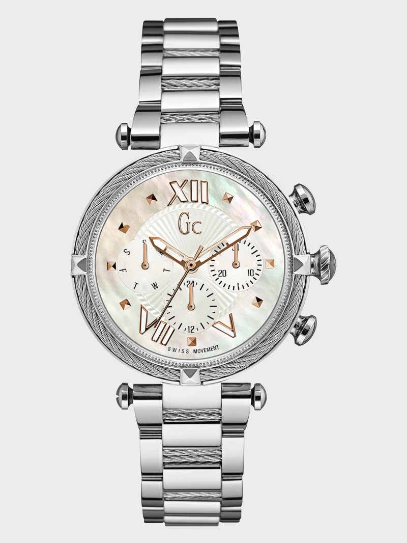 Silver Cable Timepiece