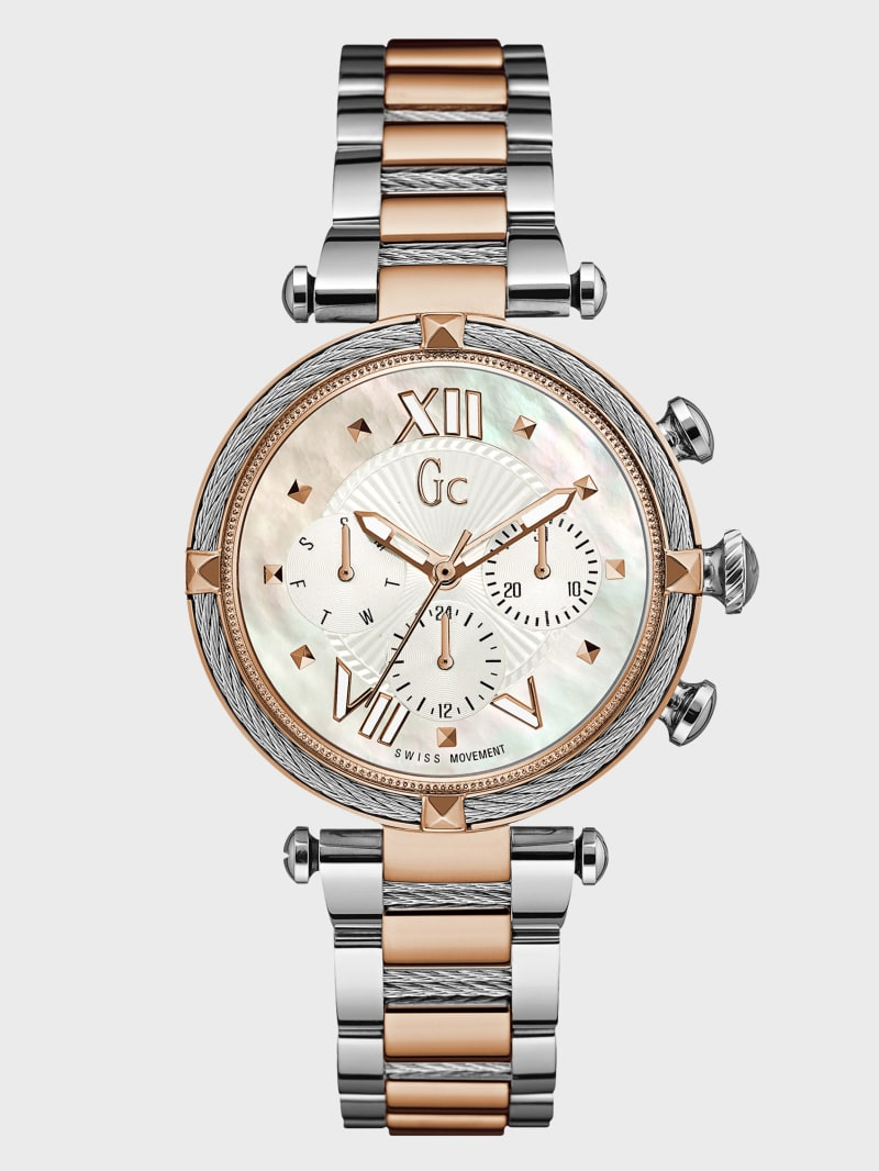 Two-Tone Multifunction Watch