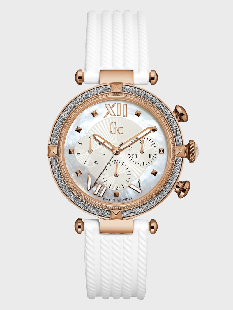 Rose Gold-Tone and White Timepiece