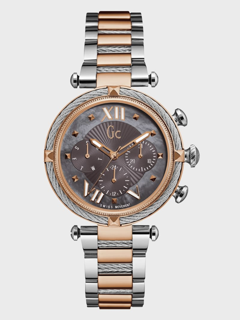 Rose Gold-Tone and Gray Watch