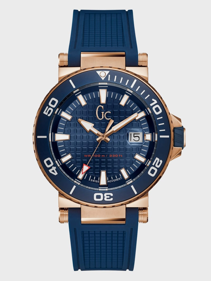 Blue and Gold-Tone Analog Watch