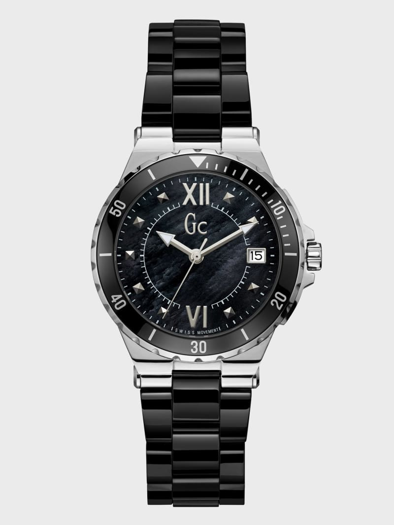 Black and Silver-Tone Watch