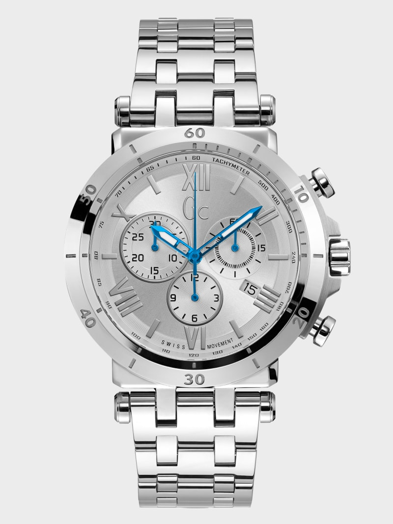 Gc Silver-Tone Multifunction Watch