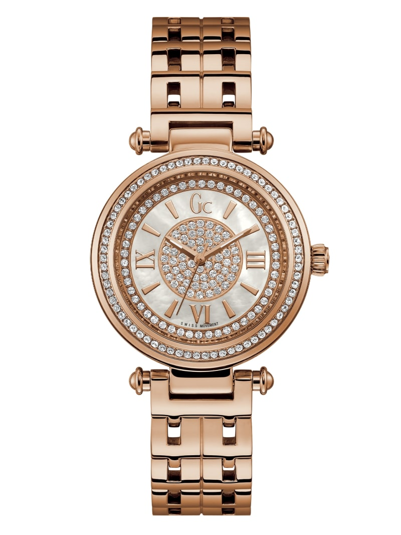 Gc Rose Gold-Tone Analog Watch