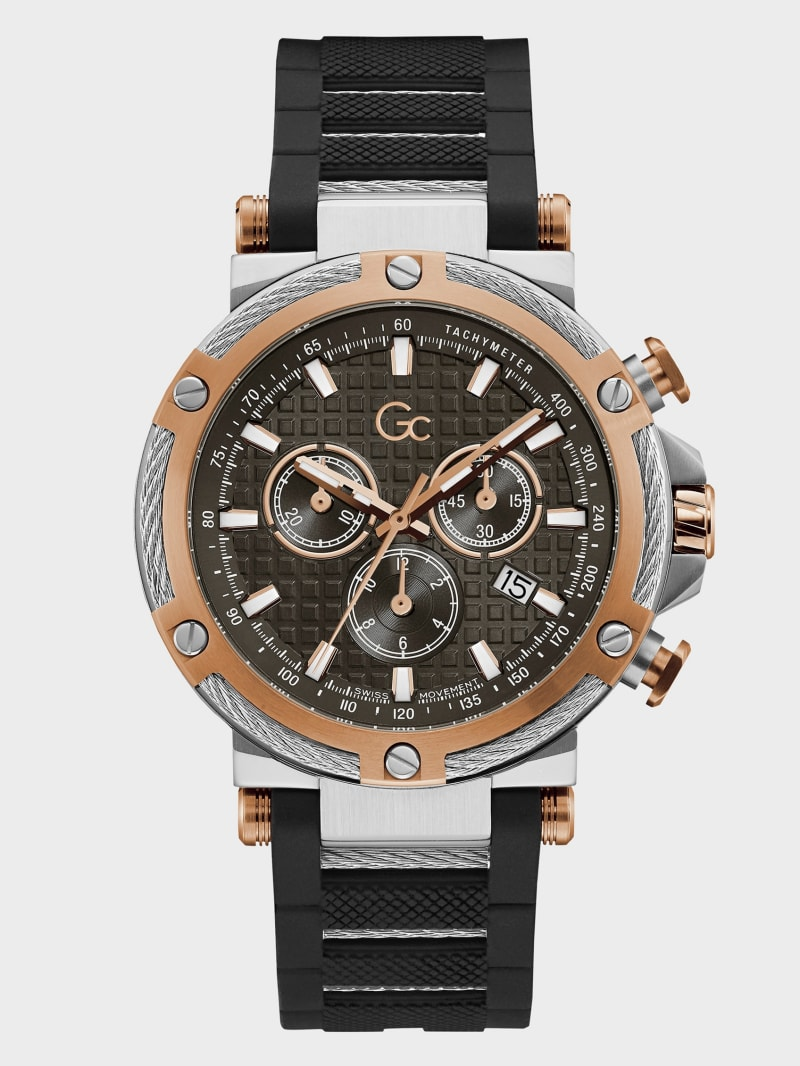 Gc Rose Gold-Tone Chronographic Watch