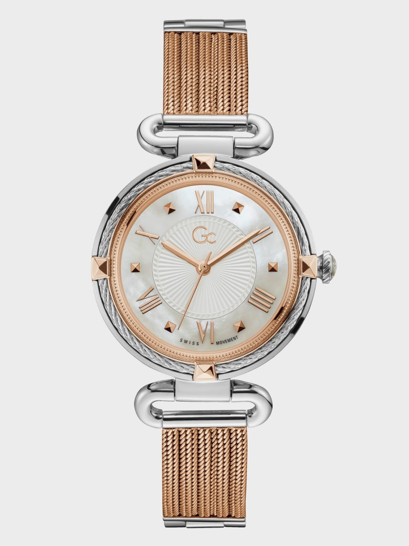 Gc Rose Gold-Tone Cable Watch