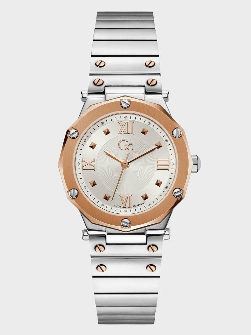 Gc Silver-Tone Analog Watch