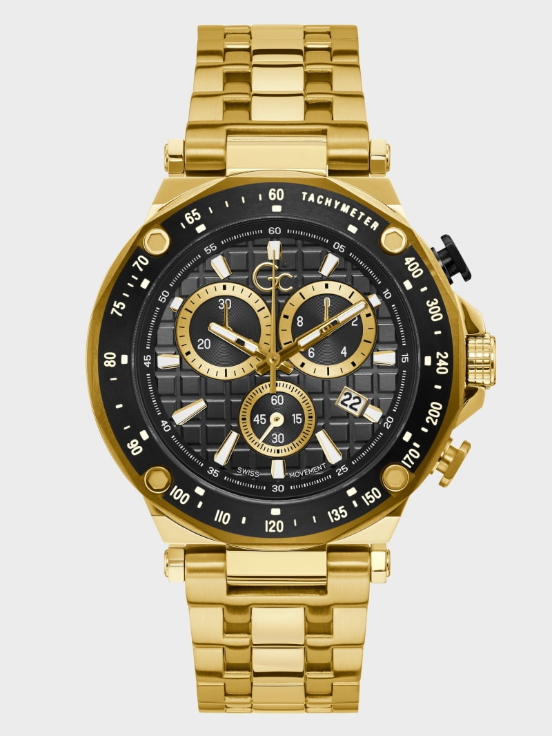 Gc 2-Tone Chronograph Watch