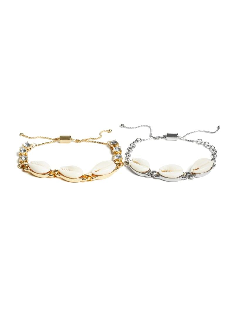 Multi-Tone Shell Bracelet Set
