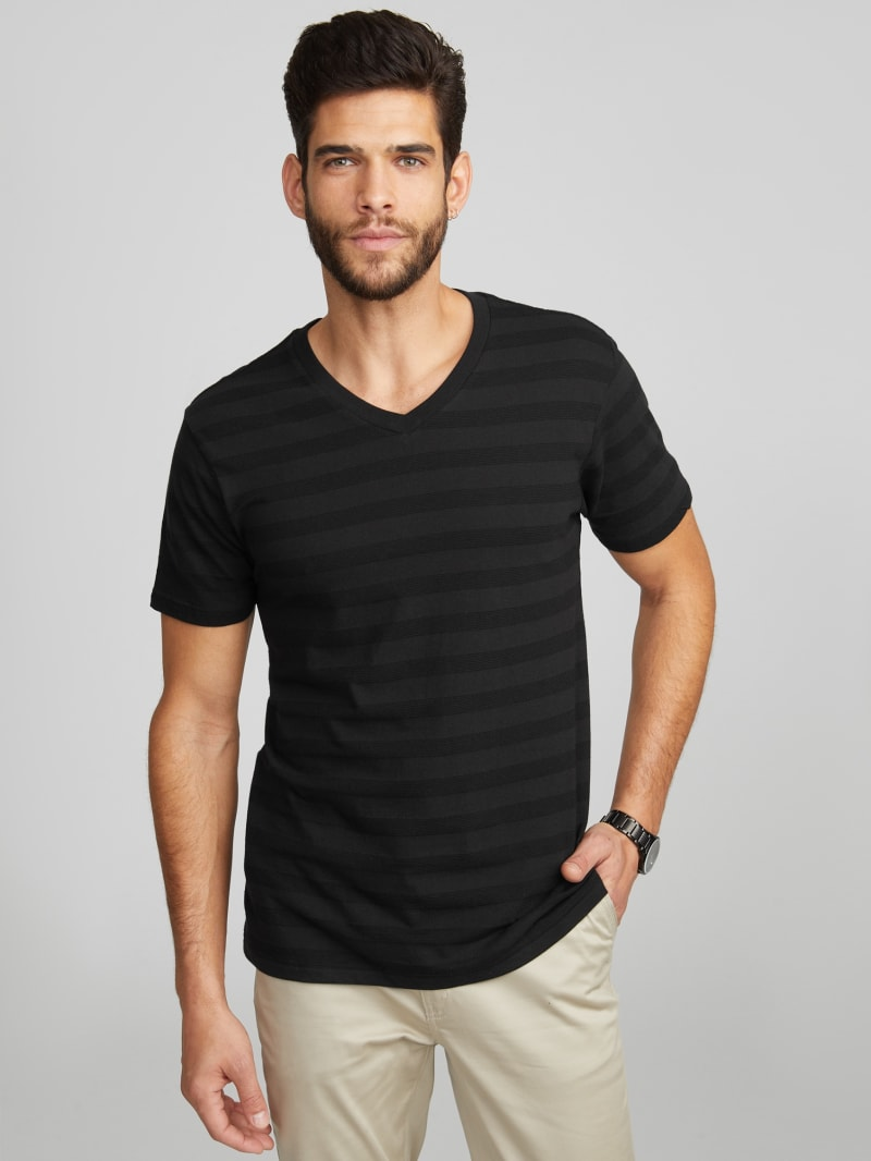 Joey Striped V-Neck Tee