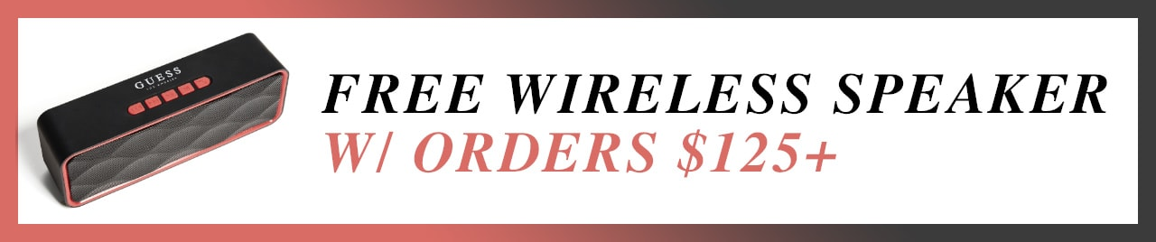 free wireless speaker with orders $125+