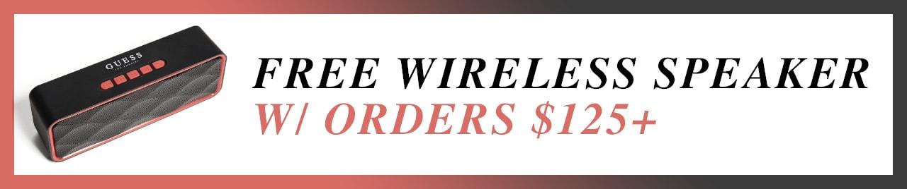 free wireless speaker with orders $125+