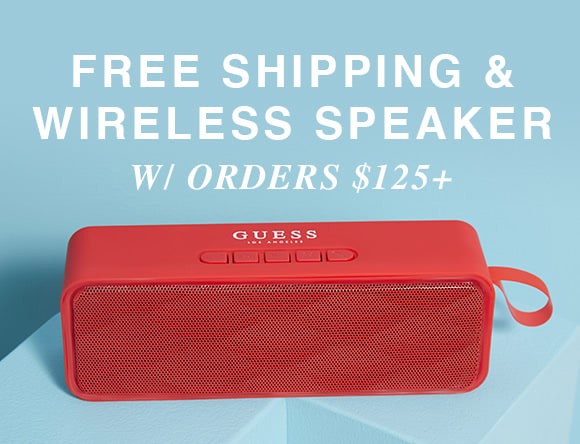 free shipping and free wireless speakeron orders $125+