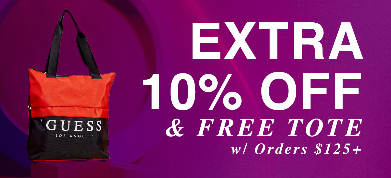 extra 10% off and free tote with orders $125+