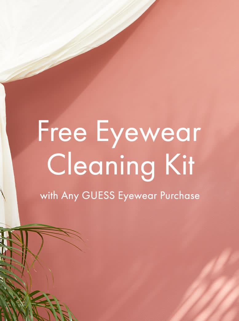 Free Eyewear Cleaning Kit with Any GUESS Eyewear Purchase