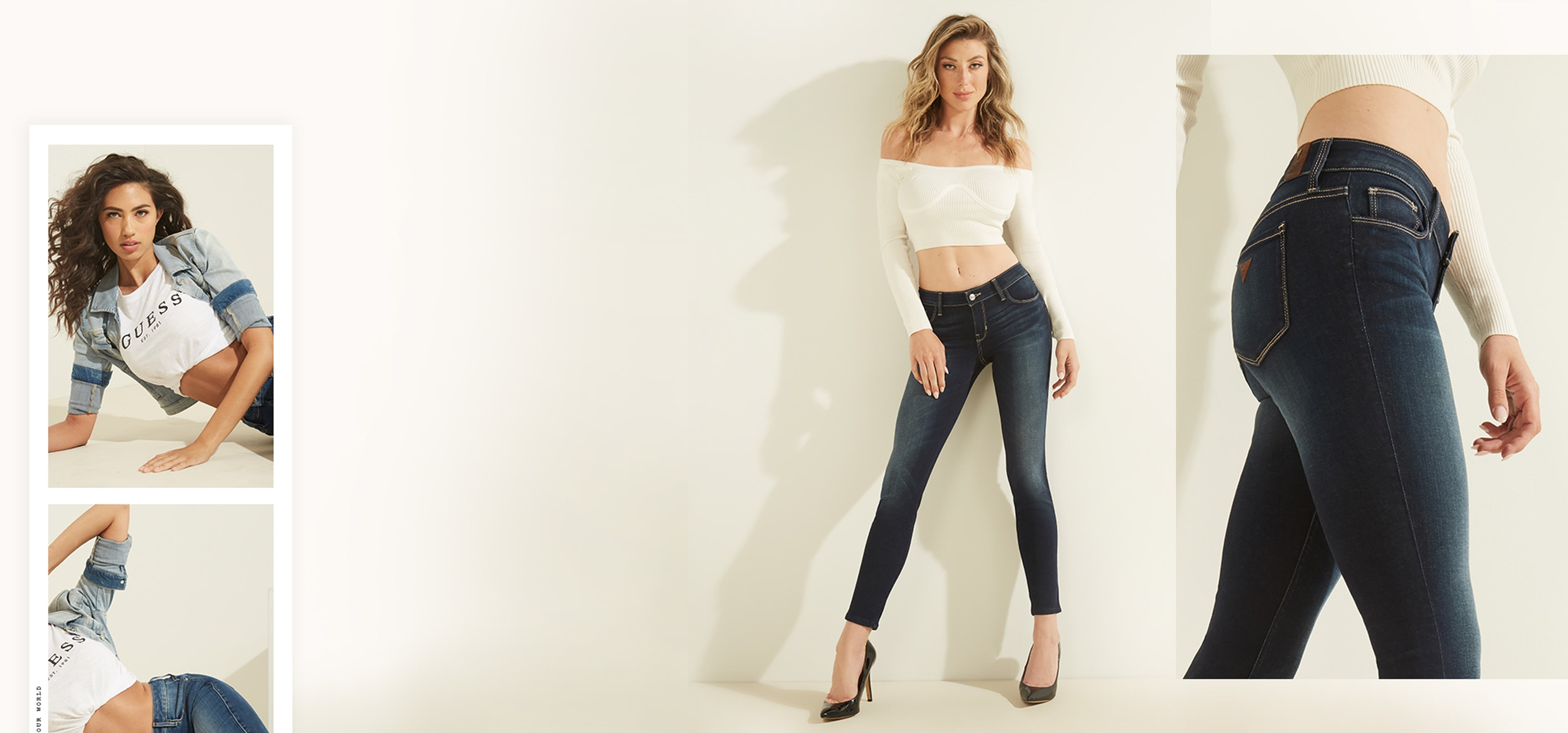 Power skinny jeans for women