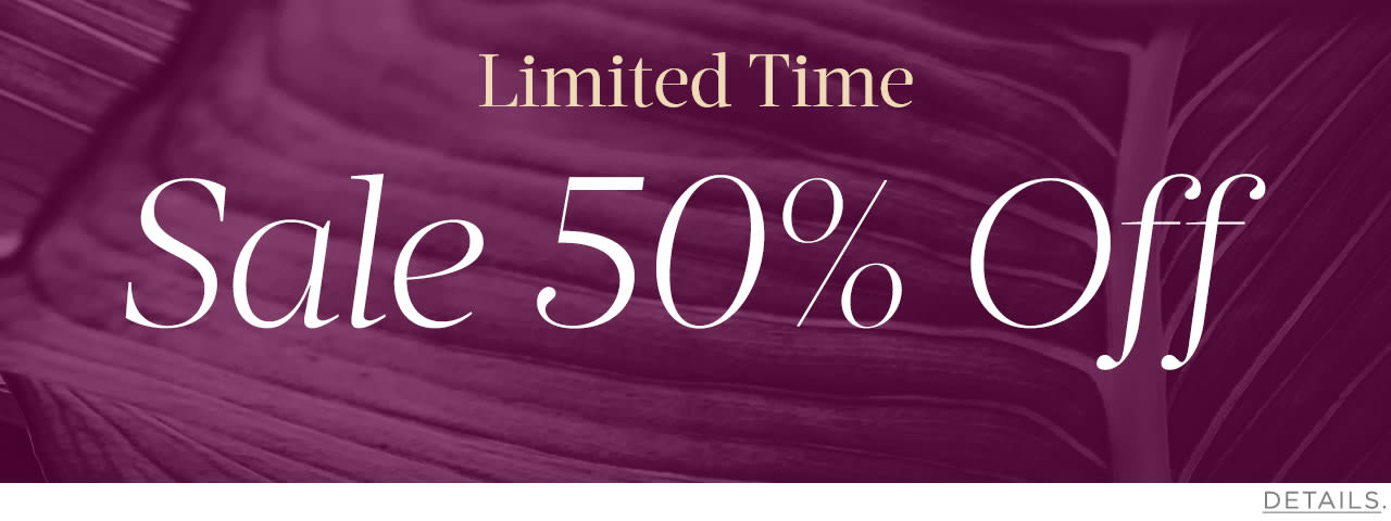 Limited: Sale 50% Off