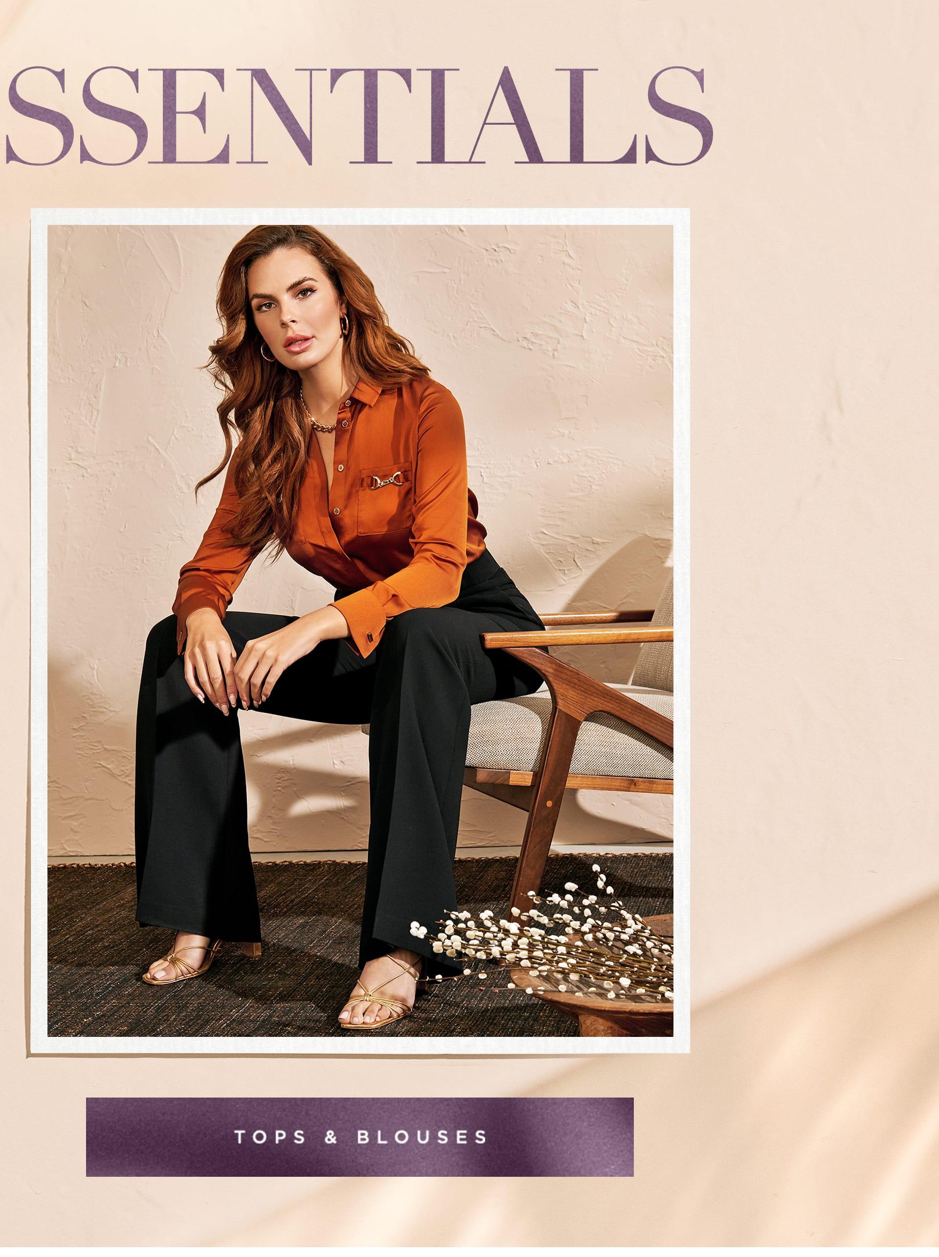 Shop elegant blouses and tops