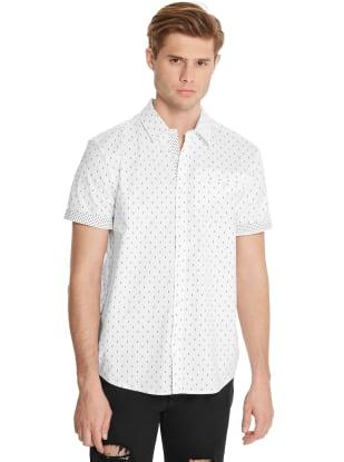 GUESS Factory Mens Frankie Geo-Print Shirt